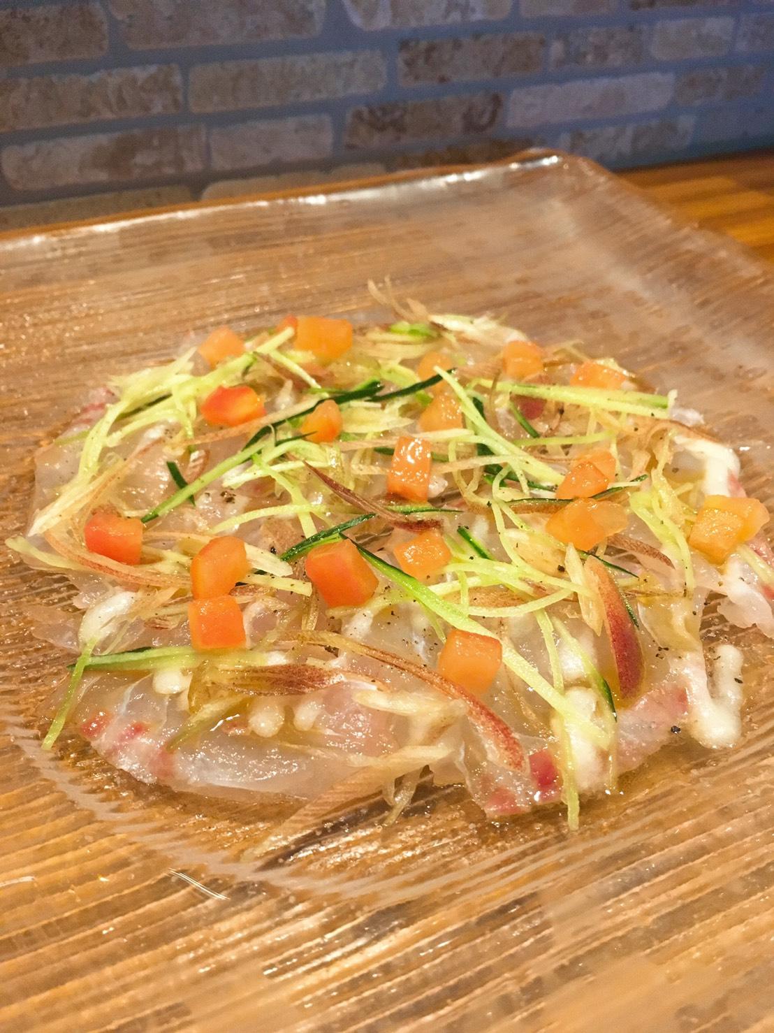 真鯛のカルパッチョ仕立て